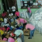 Packing Relief Goods for Affected Barangays in COVID19